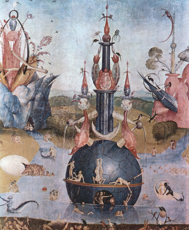 Hieronymous Bosch - The Garden Of Earthly Delights Center Detail 1