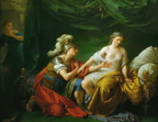 Louis Jean Francois Lagrenee - Alcibiades on his knees before his mistress