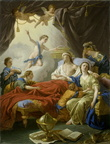 Louis Jean Francois Lagrenee - Allegory on the Death of the Dauphin