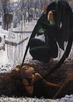 Carlos Schwabe - Death and the Grave Digger